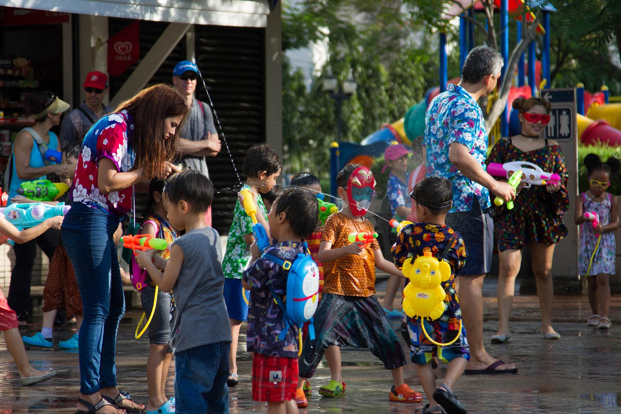 Songkran en thailande