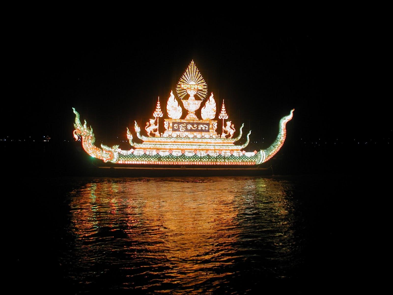 fête de l'eau au cambodge