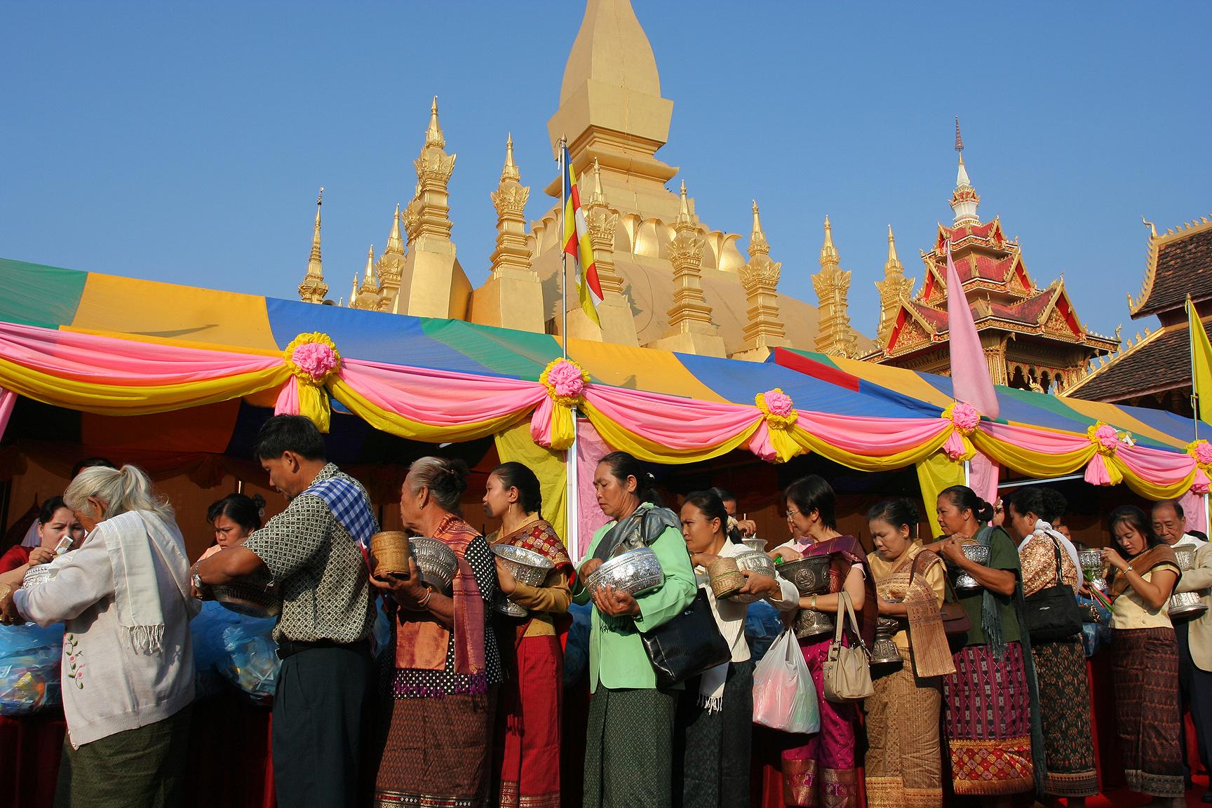 That luang Festival Vientiane Laos